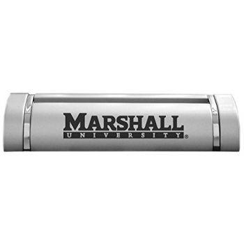 Marshall University-Desk Business Card Holder -Silver