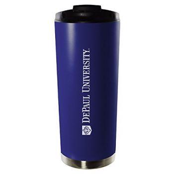DePaul University-16oz. Stainless Steel Vacuum Insulated Travel Mug Tumbler-Blue