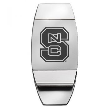 North Carolina State University - Two-Toned Money Clip - Silver