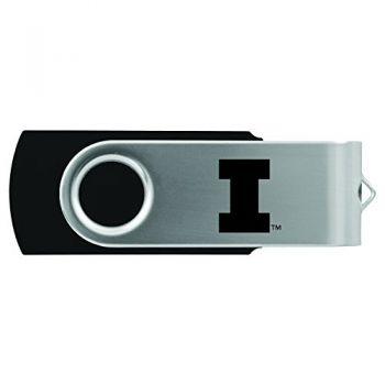 University of Illinois -8GB 2.0 USB Flash Drive-Black