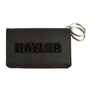 Velour ID Holder-Baylor University-Black