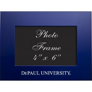 DePaul University - 4x6 Brushed Metal Picture Frame - Blue