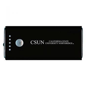 California State University, Northridge -Portable Cell Phone 5200 mAh Power Bank Charger -Black