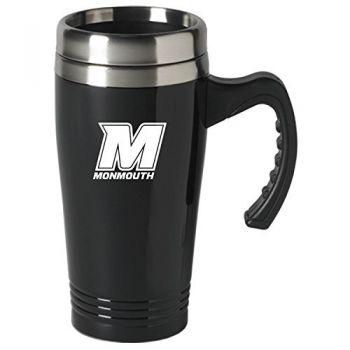 Monmouth University-16 oz. Stainless Steel Mug-Black