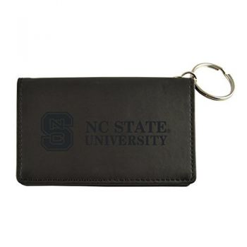 Velour ID Holder-North Carolina State University-Black