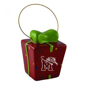 University of Memphis-3D Ceramic Gift Box Ornament
