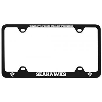 University of North Carolina Wilmington -Metal License Plate Frame-Black