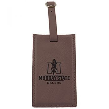Murray State University -Leatherette Luggage Tag-Brown