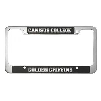 Canisus College -Metal License Plate Frame-Black