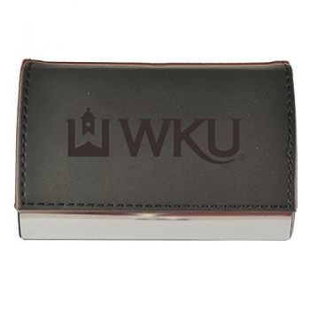 Velour Business Cardholder-Western Kentucky University-Black