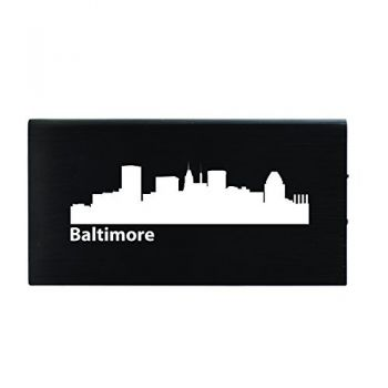 Baltimore, Maryland-8000 mAh Portable Cell Phone Charger-Black