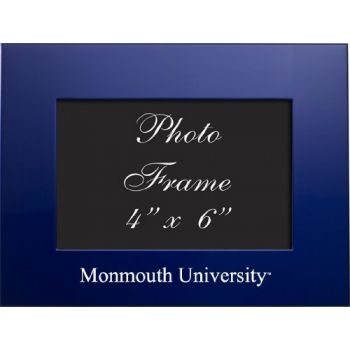Monmouth University - 4x6 Brushed Metal Picture Frame - Blue