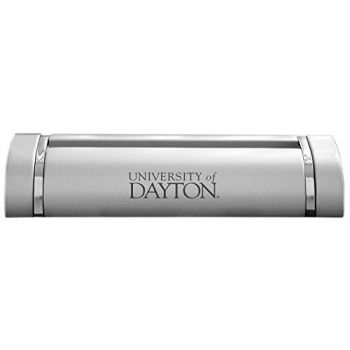 University of Dayton-Desk Business Card Holder -Silver
