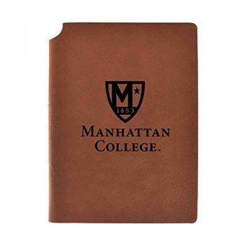 Manhattan College Velour Journal with Pen Holder|Carbon Etched|Officially Licensed Collegiate Journal|