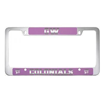George Washington University -Metal License Plate Frame-Pink