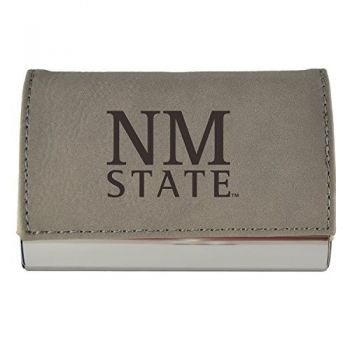 Velour Business Cardholder-New Mexico State-Grey
