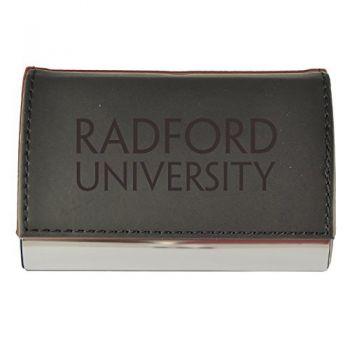 Velour Business Cardholder-Radford University-Black