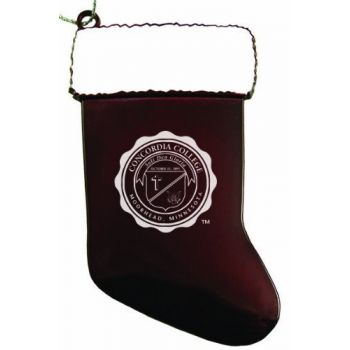 Concordia College - Chirstmas Holiday Stocking Ornament - Burgundy
