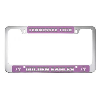 Tennessee Technological University -Metal License Plate Frame-Pink