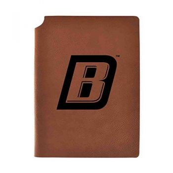 Bryant University Velour Journal with Pen Holder|Carbon Etched|Officially Licensed Collegiate Journal|