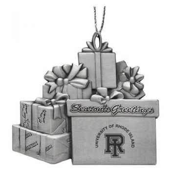 University of Rhode Island - Pewter Gift Package Ornament