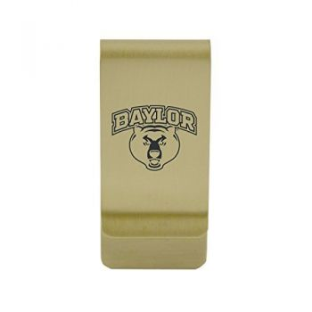 Ball State University|Money Clip with Contemporary Metals Finish|Solid Brass|High Tension Clip to Securely Hold Cash, Cards and ID's|Silver