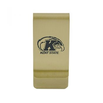 Kennesaw State University|Money Clip with Contemporary Metals Finish|Solid Brass|High Tension Clip to Securely Hold Cash, Cards and ID's|Silver