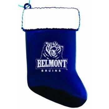 Belmont University - Christmas Holiday Stocking Ornament - Blue