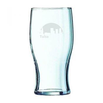19.5 oz Irish Pint Glass - Tulsa City Skyline