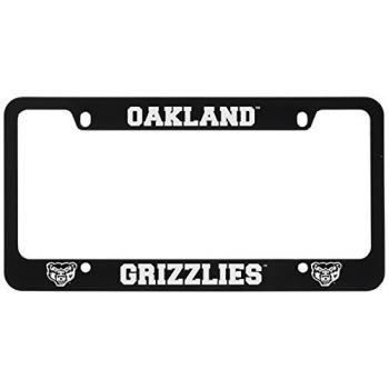 Oakland University -Metal License Plate Frame-Black