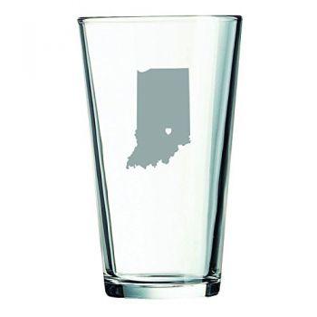 16 oz Pint Glass  - I Heart Indiana - I Heart Indiana