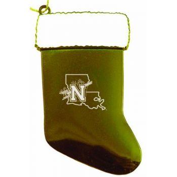 Northwestern State University - Chirstmas Holiday Stocking Ornament - Gold