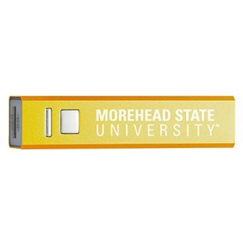 Morehead State University - Portable Cell Phone 2600 mAh Power Bank Charger - Gold