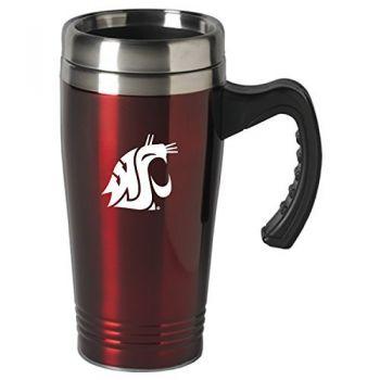 Washington State University-16 oz. Stainless Steel Mug-Burgundy