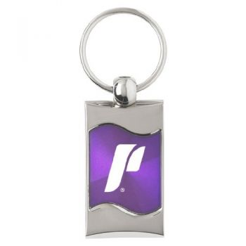 University of Portland - Wave Key Tag - Purple