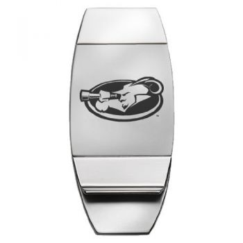 La Salle University - Two-Toned Money Clip - Silver