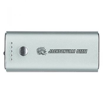 Jacksonville State University-Portable Cell Phone 5200 mAh Power Bank Charger -Silver