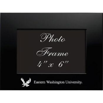 Eastern Washington University - 4x6 Brushed Metal Picture Frame - Black