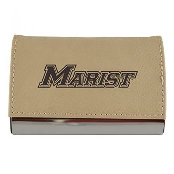Velour Business Cardholder-Marist College-Tan
