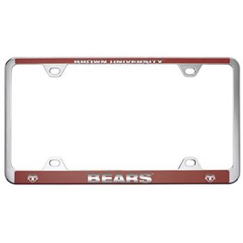 Brown University -Metal License Plate Frame-Red