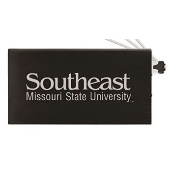 8000 mAh Portable Cell Phone Charger-Southeast Missouri State University -Black