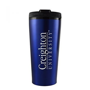 Creighton University -16 oz. Travel Mug Tumbler-Blue