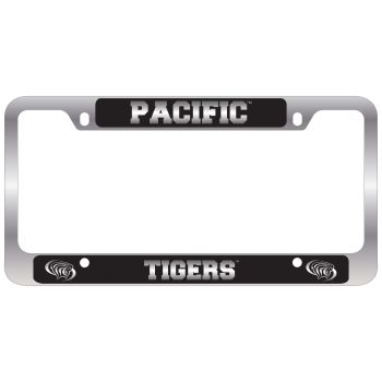 University of The Pacific -Metal License Plate Frame-Black