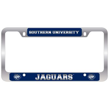 Southern University -Metal License Plate Frame-Blue