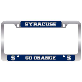 Syracuse University-Metal License Plate Frame-Blue