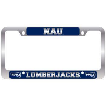 Northern Arizona University -Metal License Plate Frame-Blue