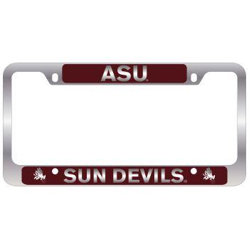 ASU Sun Devils -Metal License Plate Frame-Burgundy