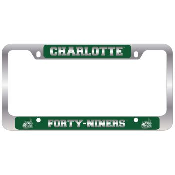 University of North Carolina at Charlotte -Metal License Plate Frame-Green