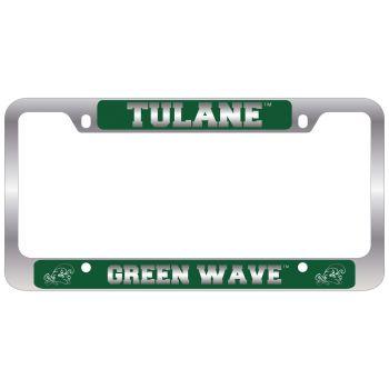 Tulane University -Metal License Plate Frame-Green