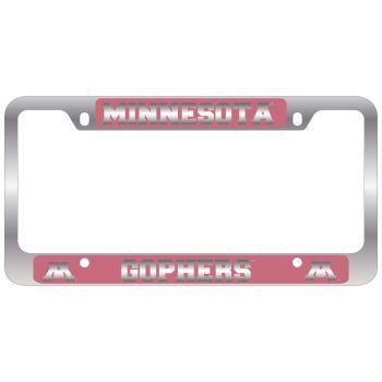 University of Minnesota -Metal License Plate Frame-Pink